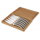 Set of 6 Stylver brushed stainless steel knives