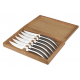 Set of 6 Stylver brilliant stainless steel knives