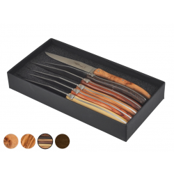 Laguiole Brasserie knives available woods