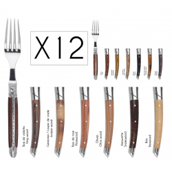 Set of 12 forks Le Thiers Prestige - Mixed woods