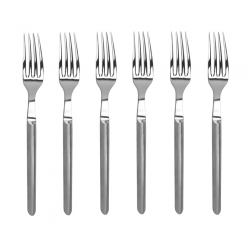 Set of 6 forks Le Thiers Prestige stainless steel brushed