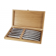 Set of 6 Le Thiers Prestige brushed stainless steel knives