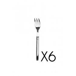 Set of 6 fish forks Laguiole Prestige brilliant stainless steel