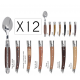 Set of 12 coffee spoons Le Thiers Prestige - Mixed woods